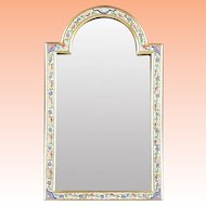 """Antique French Champlevé Bronze Table Top Mirror """"MAGNIFICENT"""""""