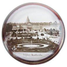 "Antique Ruby Spa Souvenir Hinged Box  ""Schloss Karlsruhe"""
