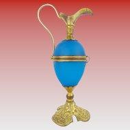"Palais Royal  Blue Egg Shaped Hinged Box ""EWER SHAPE"""