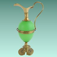 "AWESOME Palais Royal Green Egg Shaped Hinged Box ""EWER SHAPE"""
