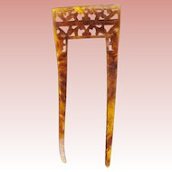 "Antique Celluloid  ""FAUX BLond Tortoise "" Hair Comb"
