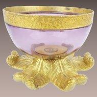 """Antique Amethyst Crystal  Bowl """"BEAUTIFUL"""""""