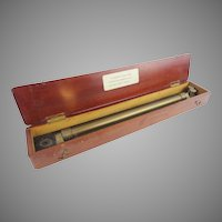 "Antique English Navigator's Roller Ruler ""ORIGINAL WOOD BOX"""