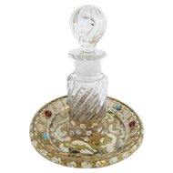 Antique Austrian Jeweled Enamel Perfume.