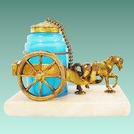 Palais Royal Opaline Inkwell Horse Cart