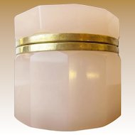"""Antique French Pink Opaline Hinged Box """"LUSCIOUS PINK OPALINE"""""""