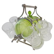 Wonderful Green Keg Beverage Set with Six Little Mugs