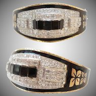 BLACK ENAMEL DIAMOND  BRACELET