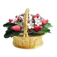 "Vintage Enamel Strawberry Basket  ""Gotham Style"""