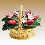 Vintage Enamel Strawberry Basket