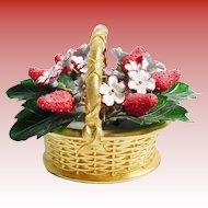 Vintage Enamel Strawberry Basket