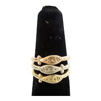 "Three 14K Stacking ""FISH"" Rings   ~ Three Colors"