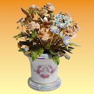 Pretty 1978  Jane Hutcheson Enamel Jeweled Flowers in Beautiful Porcelain