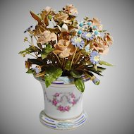 Pretty 1978  Jane Hutcheson Enamel Jeweled Flowers in Beautiful Porcelain