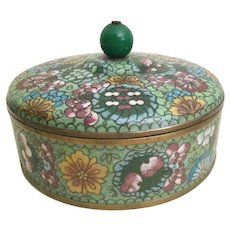 "Antique 6 ½"" Chinese Cloisonné Box"