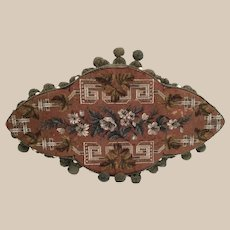 "Lovely $95   19"" Antique English Beaded Tray"