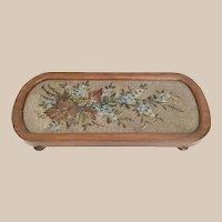 "Pretty $95  25"" Antique English Beaded Tray"