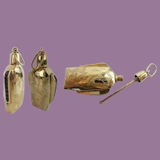 14Karat Perfume w Channel Set Sapphires ~  Beautiful 14KARAT Perfume ~  Fabulous Engraving
