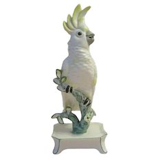 """7"""" Nymphenburg Porcelain """"Yellow"""" Cockatoo. ~ Signed ~ A BEAUTY!"""