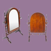 Antique Miniature Doll Dressing Mirror, Adjustable ~ RARE & Outstanding
