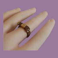 Antique 14KARAT Woven  Hair Ring ~  Exquisite Braided