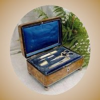 Antique  French 18K Etui Sewing Box