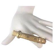 "Antique  9KARAT Cut Engraved Buckle Bangle Bracelet ""A Outstanding Antique Buckle Bangle Bracelet """