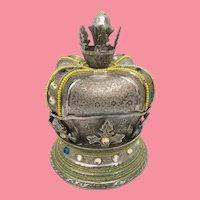 GIANT Fred Zimbalist, Thoren Music Box ~ Jeweled Musical Crown Hinged Box ~  Chopin's Mazurka Chopin's Waltz in A Minor