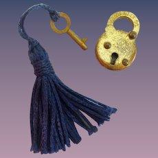 Tiny Vintage Estate Eagle Co Lock and Key