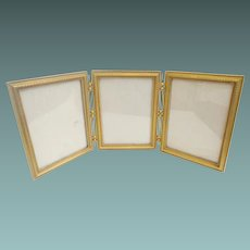 Magnificent Antique French Bronze Triple Picture Frame ~ Beautiful Quality Made French Bronze Frame