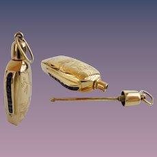14Karat Gold and Sapphire Perfume ~  MAGNIFICENT