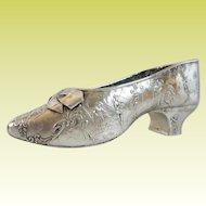 Charming Antique German 800 Silver Shoe ~ RARE~