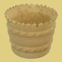 Antique Carved Bone Thimble Holder ~ Just a Little SPECIAL Carving!