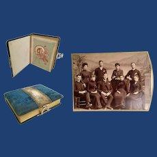 Large Antique Velvet Picture Album ~ Loaded w Wonderful Pictures