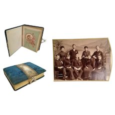 Large Antique Velvet Picture Album ~ Loaded w Wonderful Pictures