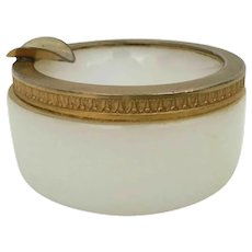 French White Opaline Trinket Ashtray