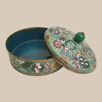Exquisite Chinese Cloisonné Box ~ Stunning Colors