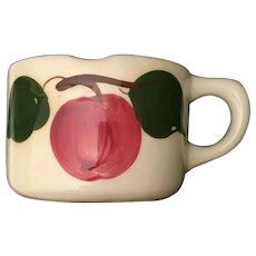 "Watts Apple Shaving Mug ""HOT WATER"" wiTwo Leaves"