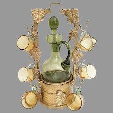 Charming Miniature Gilt Ormolu Drink Tantalus