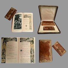 1918 French Prayer Book and Matching Purse ~ Original Presentation Box