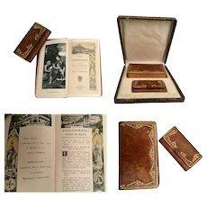 1918 French Prayer Book and Matching Purse ~ Original Presentation Box
