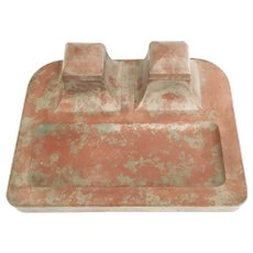 Giant Terracotta Double Inkwell  ~ A  GREAT and RARE TREASURE