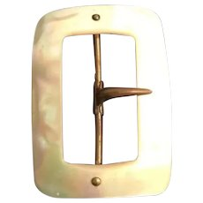 Vintage English Mother of Pearl Buckle  =WAREHOUSE CLEAN OUT  =