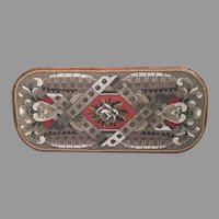 Magnificent  Antique English Beaded Tray ~ Absolutely Charming  ~ Awesome Colors