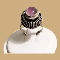 Vintage Sterling Purple Stone Poison Ring  ==CLOSEOUT==