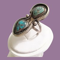 Vintage Sterling Turquoise Ring   =WAREHOUSE CLEAN OUT=