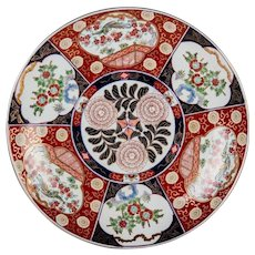 "16"" Antique  SIX PANELS Japanese IMARI Meiji Period Porcelain Charger ~ A Special Imari Piece from My Treasure Vault."