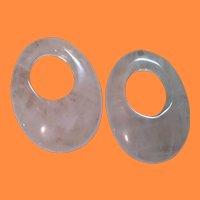 Vintage PINK Stone Earring/Hoop Enhancers
