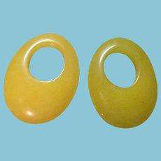 Vintage YELLOW Stone Earring/Hoop Enhancers