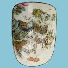 """Lovely Asian Porcelain and White Metal Box """"This is a BEAUTY!"""